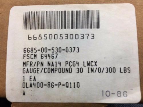 Dial Indicating Compound Pressure-Vacuum Gage NA14 PCG4 LWCX Weksler Instruments