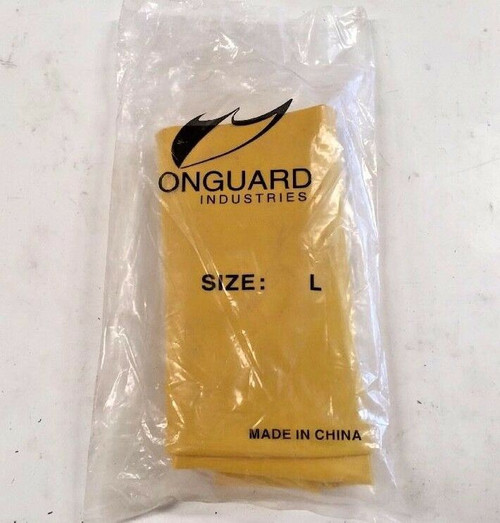 Onguard Rubber Boot Covers L Hazmat Cleaning Protective Footwear Safety 1 Pair