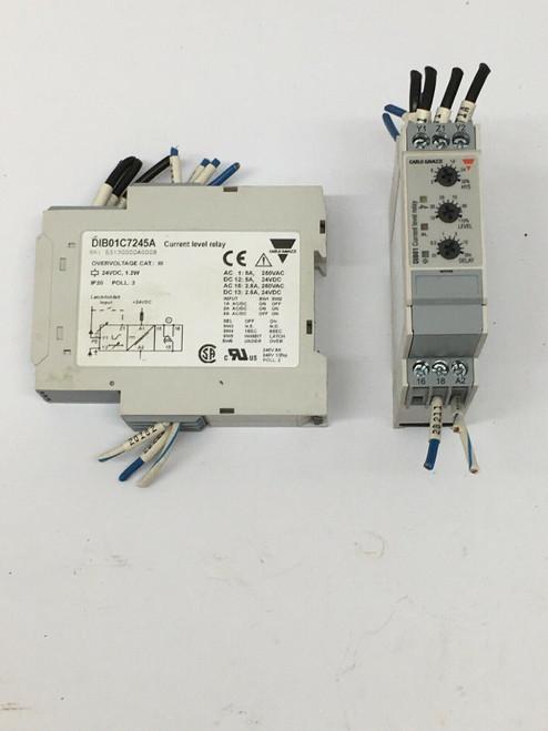 Current Level Relay DIB01C7245A Carlo Gavazzi 24VDC 1.2W 0.1-30SECS IP20 2 Each
