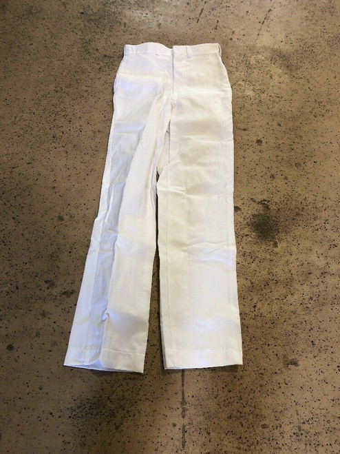 Prison Inmate Hospital Duty Men's Clothing Trousers 30 x 34 White Pants