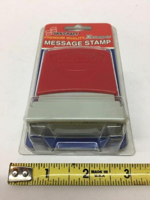 XStamper Message Stamp X-STAMPER-UNCLASSIFIED-Red Skilcraft