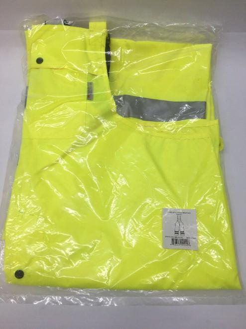 Ansi 107 Class E Bib Pants 353-2001 PIP Yellow Heavy Duty Waterproof Breathable