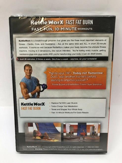 """KettleWorX """"Fast Fat Burn"""" Fast, Fun, 10-Minute Workouts DVD"""