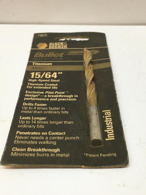 "Bullet Point Drill Bit 14815 Black & Decker 15/64"" High-Speed Steel"