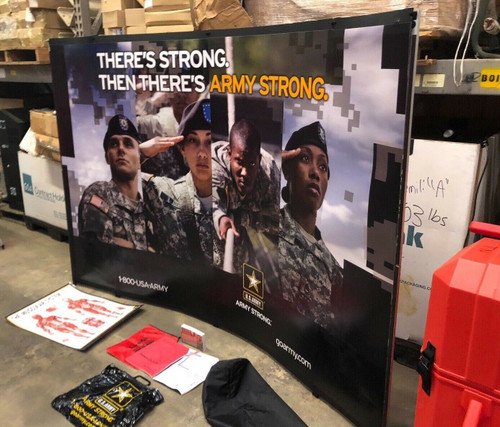 Nomadic Instand TableTop Booth Display 5' x 5' Trade Show ARMY STRONG