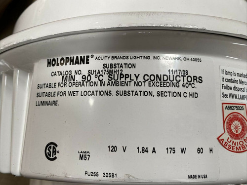 Holophane Ballast Assembly SU1A175MH12 Acuity Brands Lighting 175W 120V