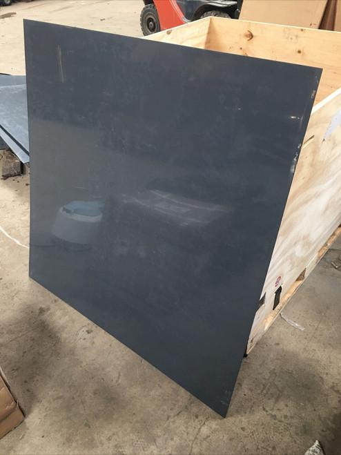 """48"""" x 48"""" x 1/4"""" Opaque Grey Plexi-Glass Sheet lot of 11"""