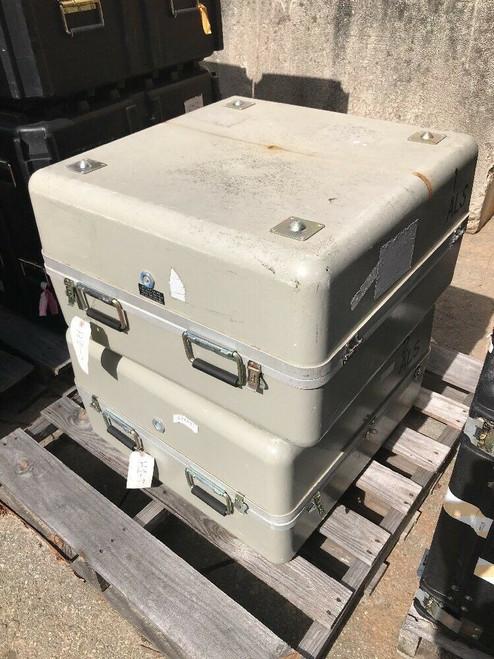 Aluminum Fiberglass Hard Shipping Cases Foam and Relief Valves (Lot of 2)