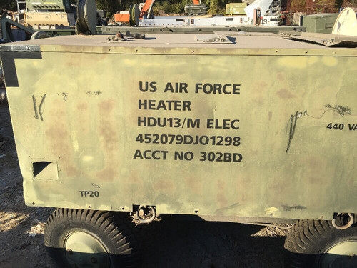 Duct Type Portable Heater HDU13/M Electric 440 Vac 3 Phase Aircraft Maintenance