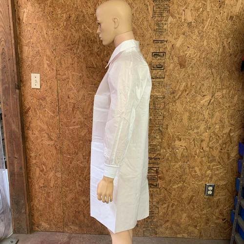 Lab Coat with Full Collar 12040 Precept Small, White (Box of 25)