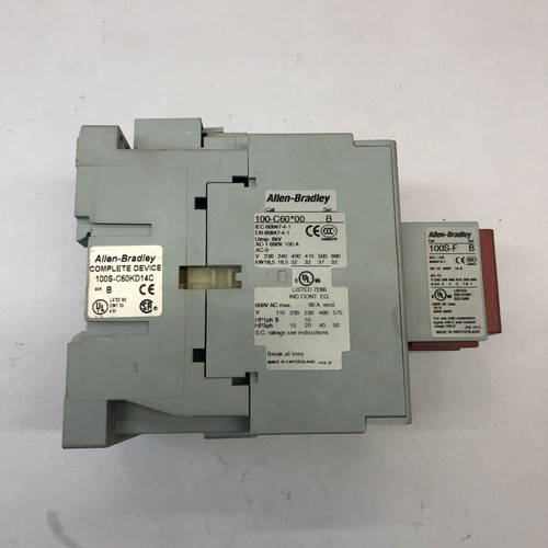 Safety Contactor with BO4 Guard Master 100S-C23D14C Allen-Bradley