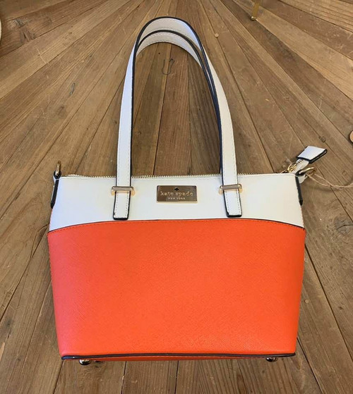 Lovely Kate Spade Orange and White Purse