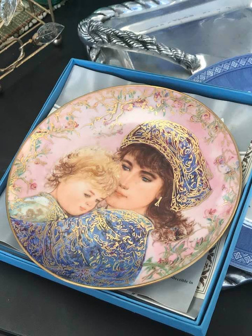 Collectible Mother's Day plate by Edna Hibel