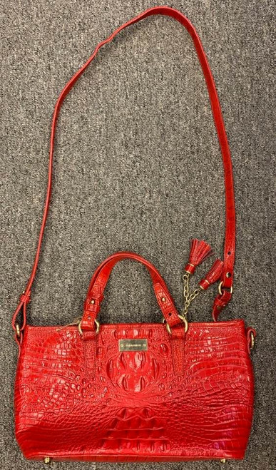 Brahmin Red Leather Handbag