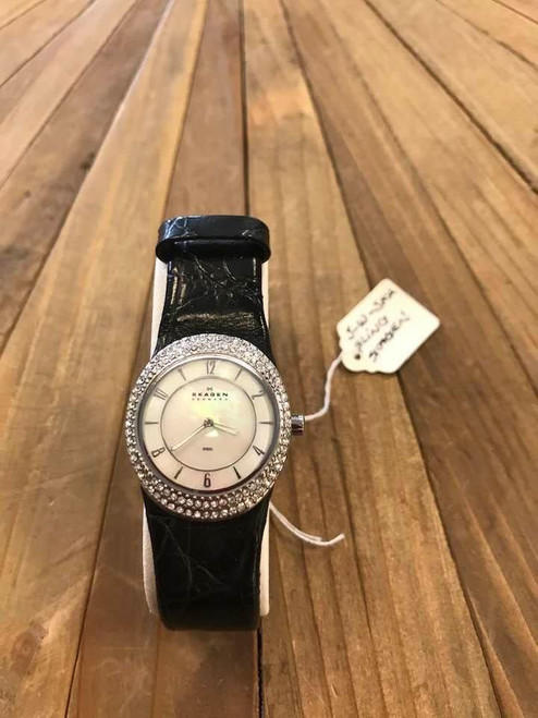 Crystal Embellished Skagen Watch