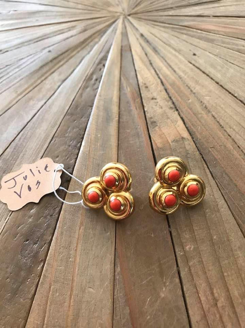 Orange Julie Vos Clip Earrings