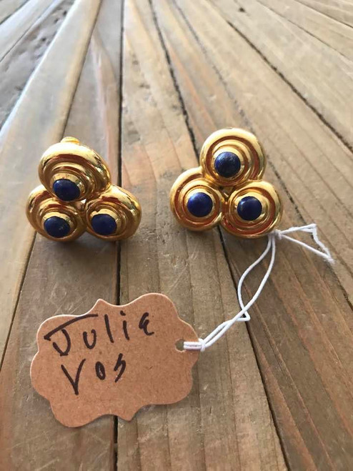 Blue Julie Vos Clip Earrings
