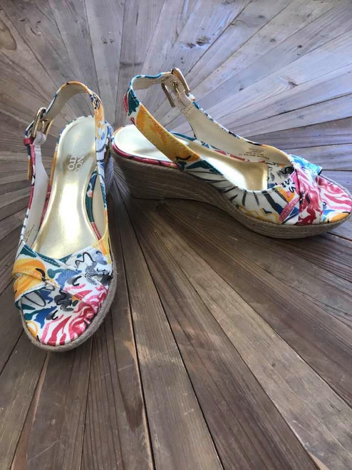 Franco Sarto Floral Wedge Sandals