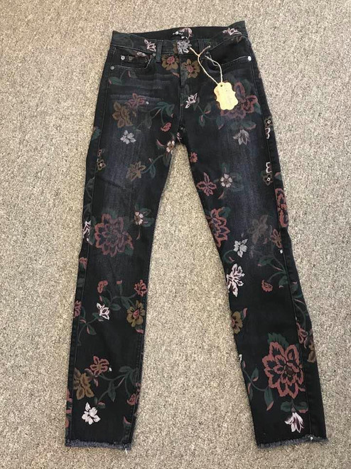 7 For All Mankind Floral Denim Jeans