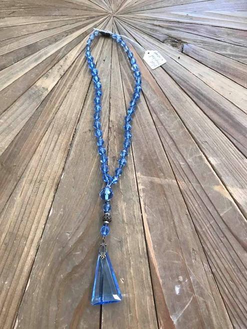 Vintage Blue Crystal Necklace