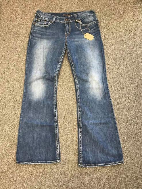 Silver Blue Denim Jeans