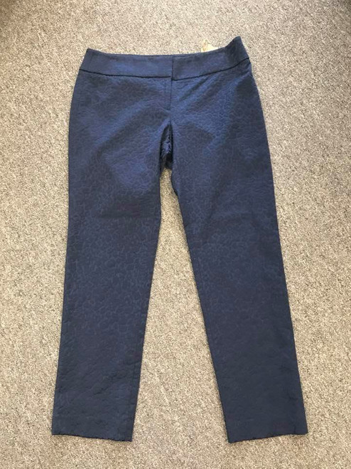 Ann Taylor Loft Blue Marissa Pants, Embossed, Size 6