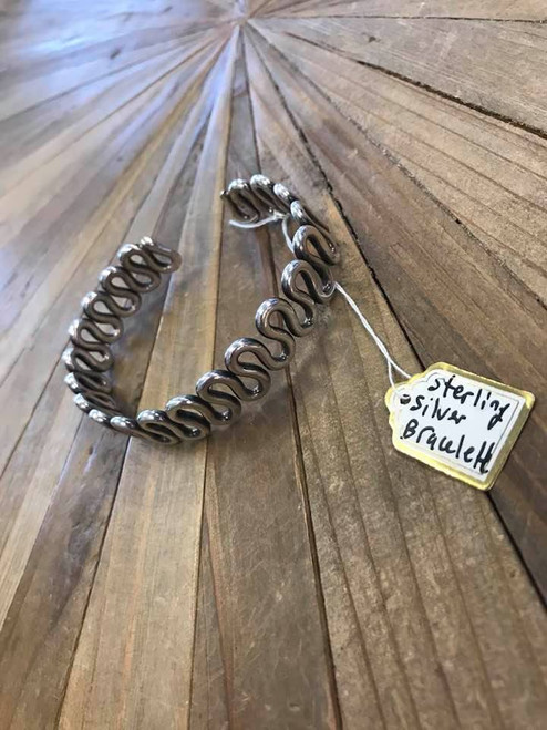 Curvy Sterling Silver Bracelet