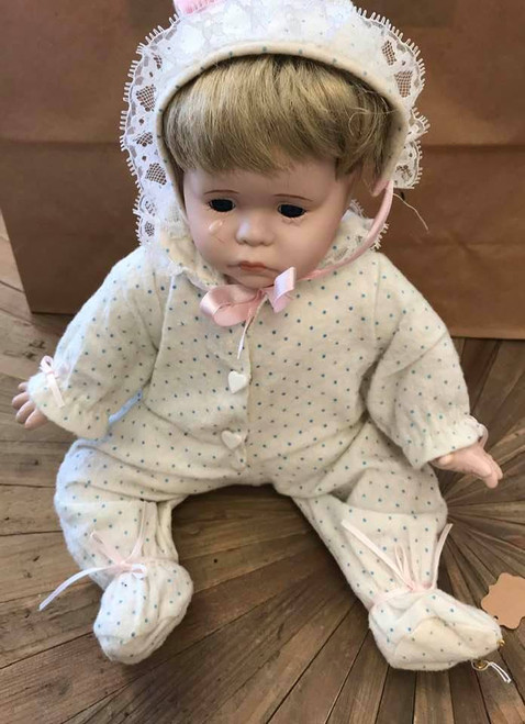 Numbered Porcelain Crying Baby Doll
