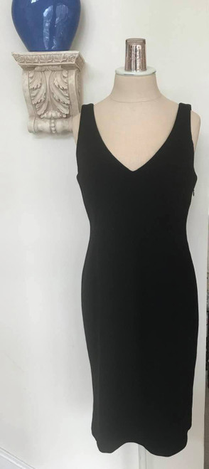 Eileen Fisher Quality Italian Black Dress, Viscose/Silk/Spandex, Size Small