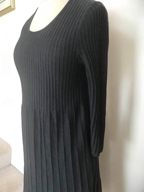 Eileen Fisher Italian Yarn Grey Knit Dress, Size XXS