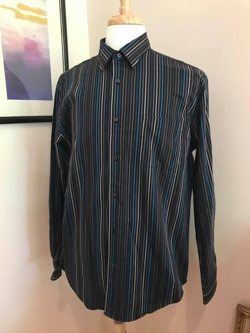Kenneth Roberts Platinum Mens Shirt, 100% Cotton, Size Large
