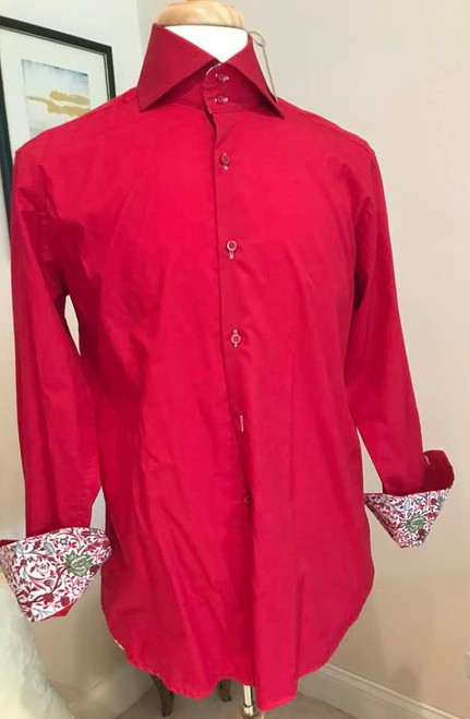 Curtis York Red Mens Shirt, Size Medium