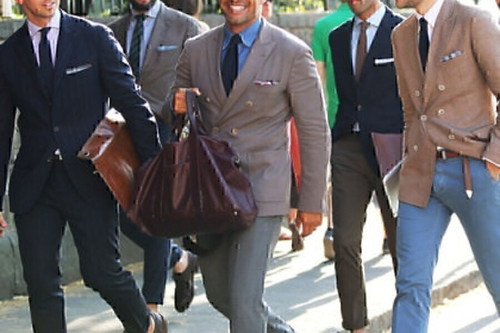 Mens Seersucker Suit by Joseph A. Bank, White Stripe, 44 Jacket, 36 Pants