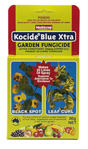 Kocide Blue Xtra Fungicide Multicrop 30g Black Spot Leaf Curl Bacterial Rot  Rose