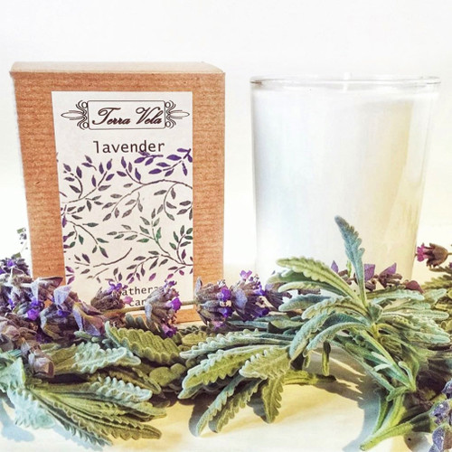 Lavender - Aromatherapy Soy Candle Natural soy wax candle, hand poured in small batches. An artisan soy wax candle of the highest quality.