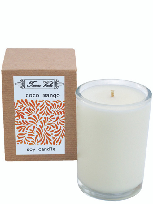 8d0ec875d7 Coco Mango Soy Candle Natural soy wax candle, hand poured in small batches.  An
