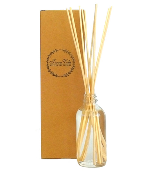 Apothecary glass natural reed diffuser. Sustained aromatherapy of the utmost quality.