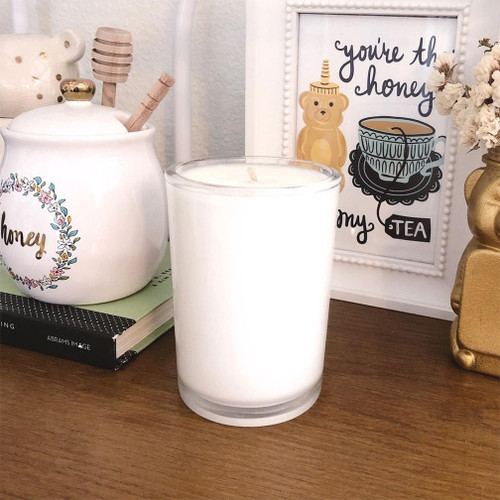 Lavender Honey Soy Candle Natural soy wax candle, hand poured in small batches. An artisan soy wax candle of the highest quality.