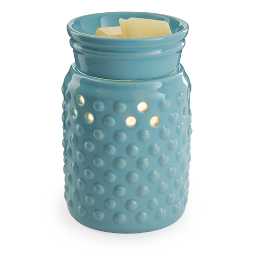 Wax Melter. Hobnail Illumination - A sky blue glaze and hobnail pattern lets this versatile warmer go with either modern or traditional decor. Simply add wax melts to the dish, turn it on, and enjoy your favorite fragrance as it spreads through the room.
