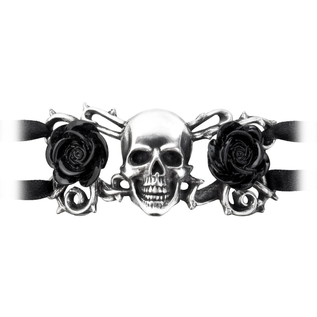 A96 - Skull & Briar Rose Bracelet