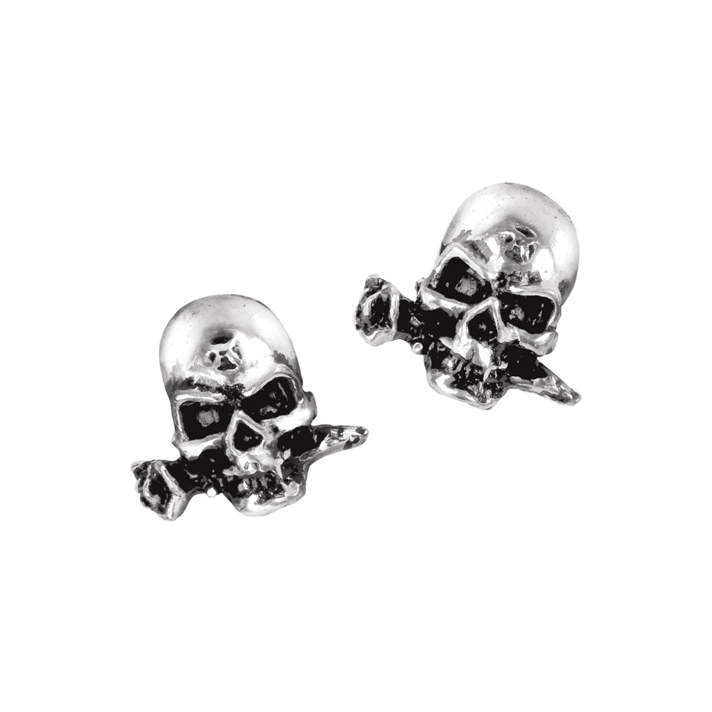 Stainless Steel Stud Earring England F.A