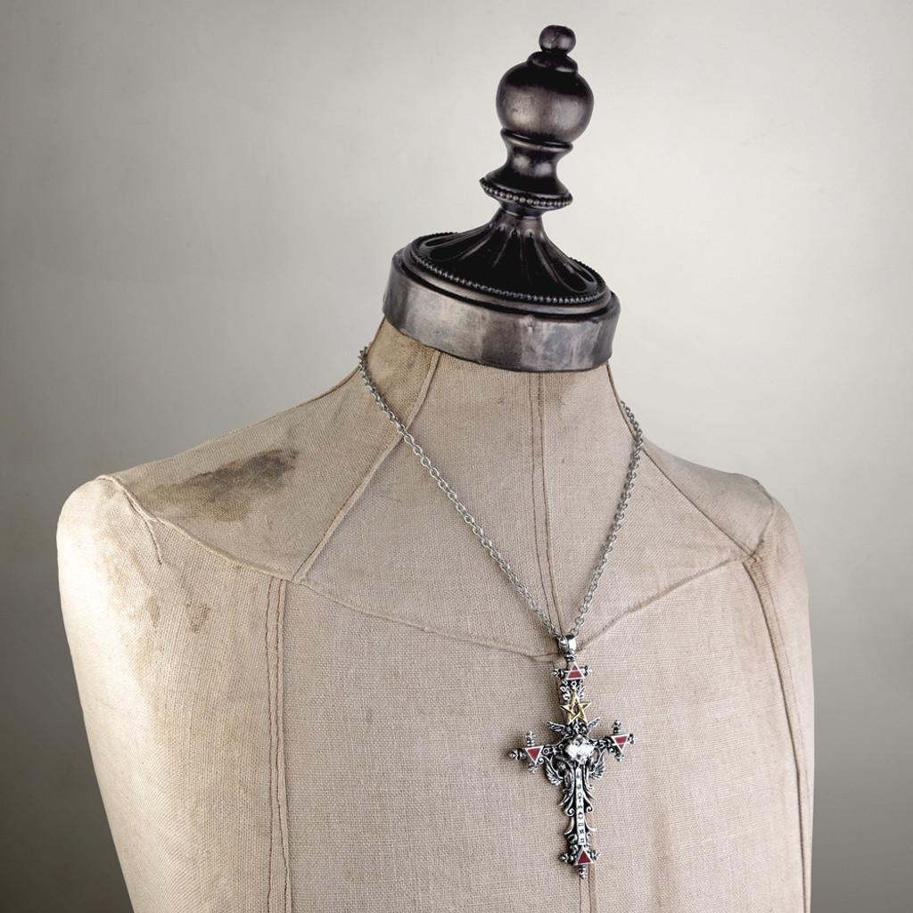 P397 - Illuminati Cross Pendant
