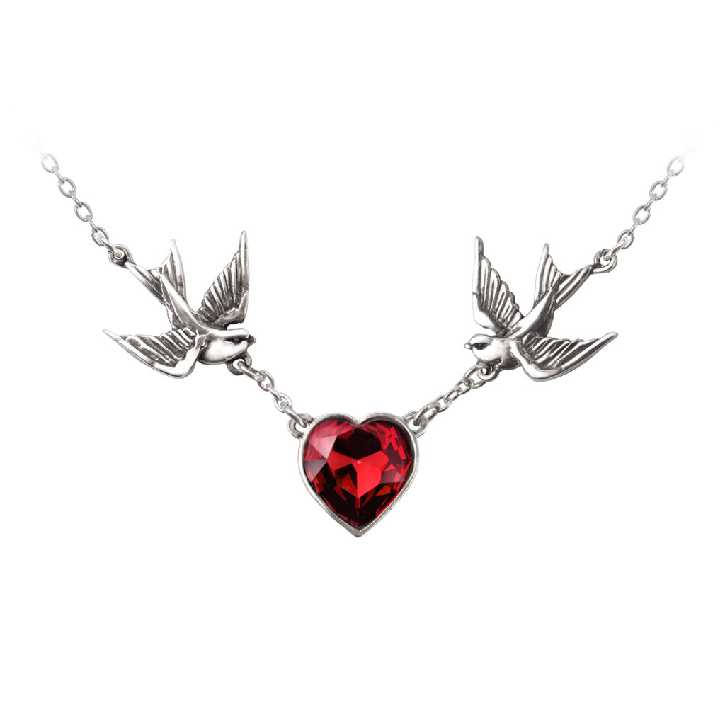 ULFP1 - Swallow Heart Necklace