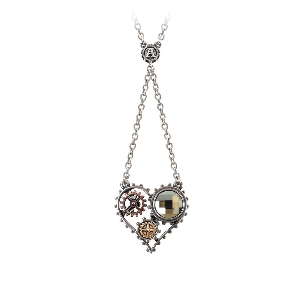 P708  - Coeur du Moteur Necklace