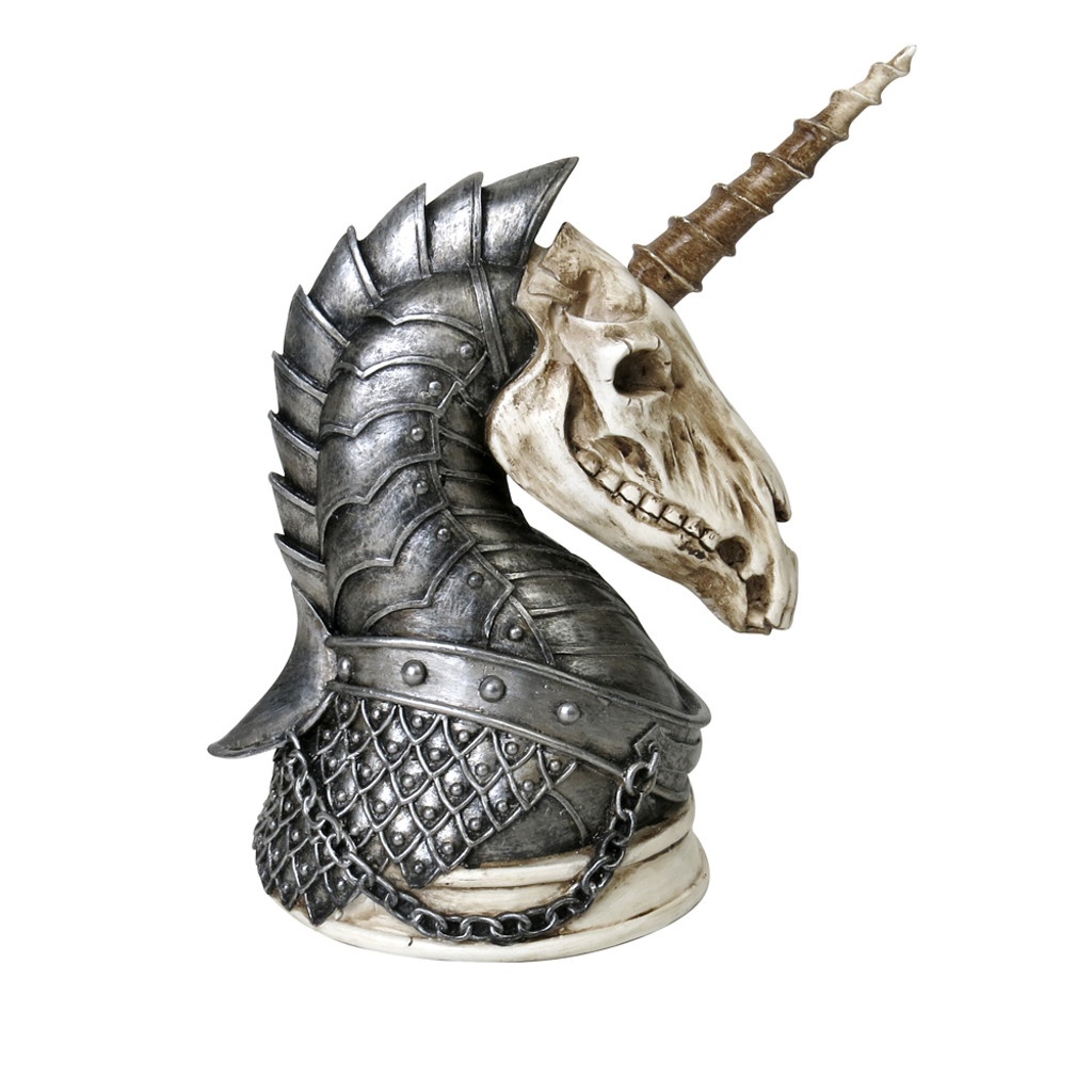 V37 - Unicorn War Horse Figurine