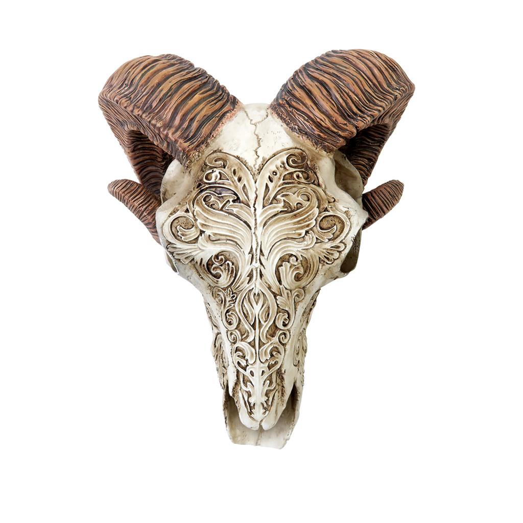 V53 - Scrimshaw Ram Skull