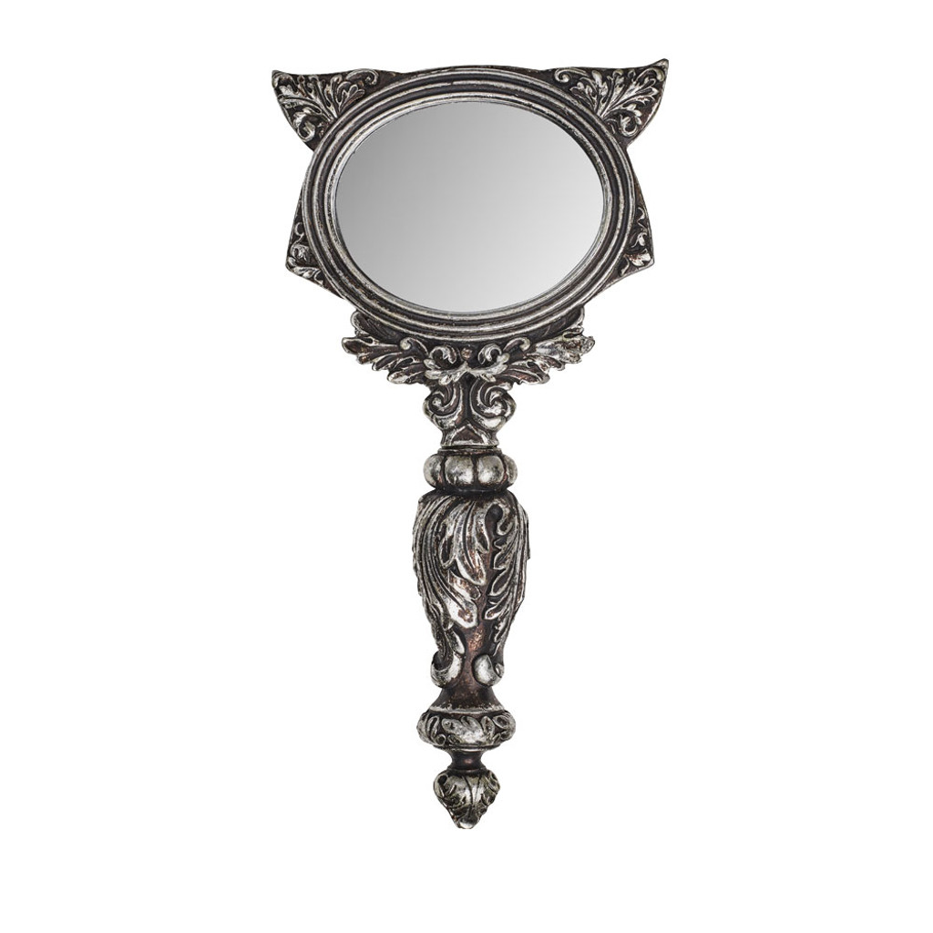 V64 - Sacred Cat Hand Mirror