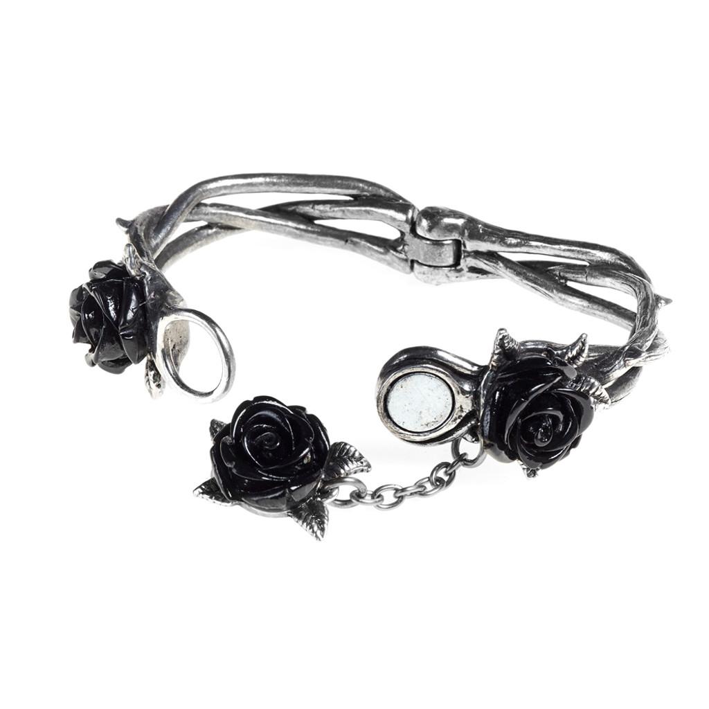A125 - Wild Black Rose Bracelet