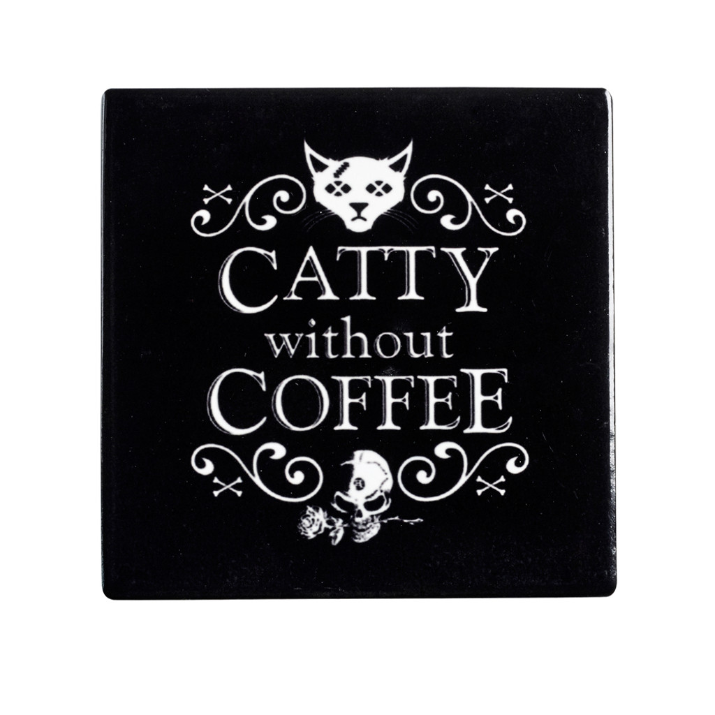 CC8 - Catty Without Coffee Coaster