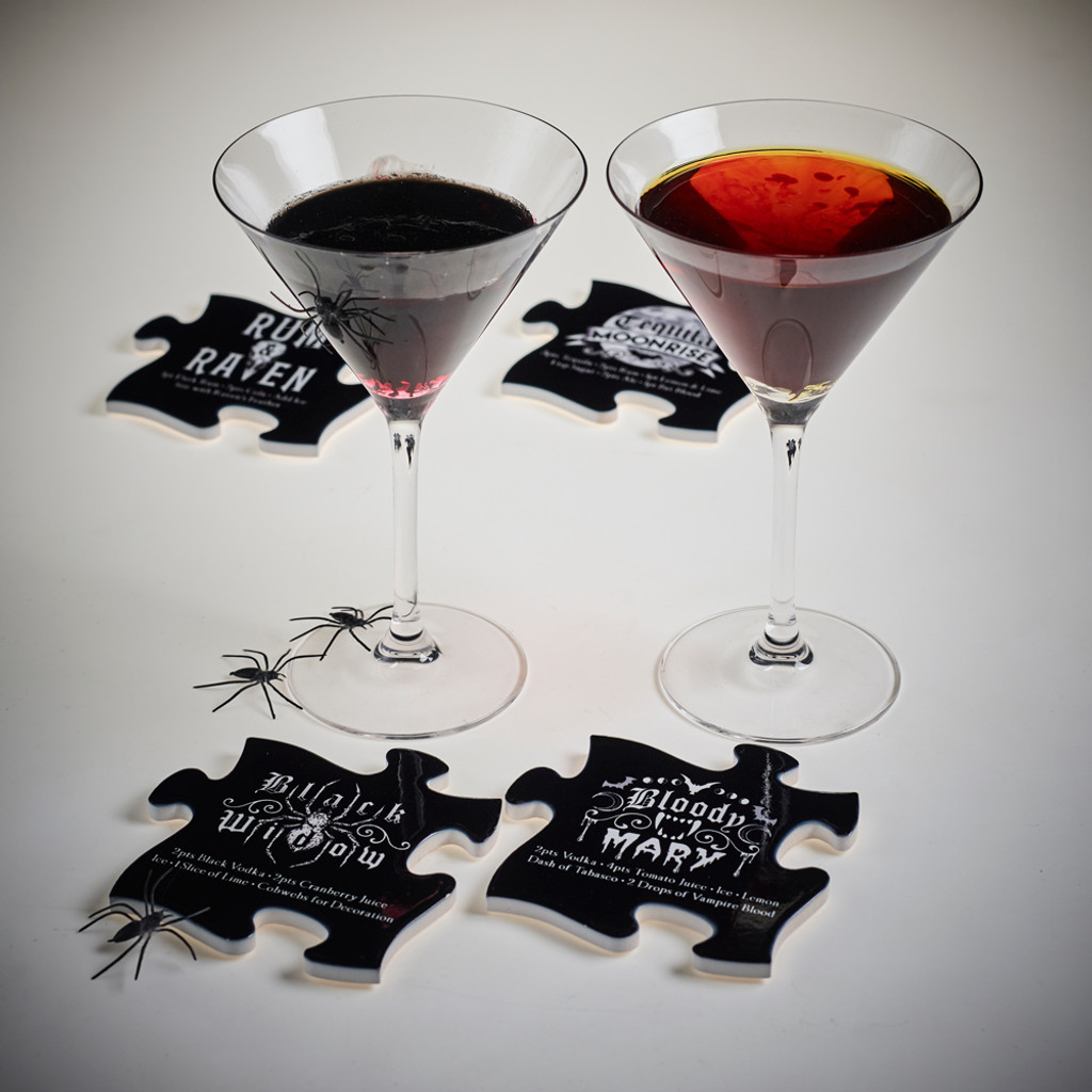CJ1 - Gothic Cocktail Coaster Set